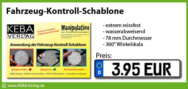 Fahrzeug-Kontroll-Schablone
